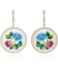Axenoff Jewellery - Flower Addiction Silver Drop Earrings - Lyst