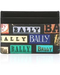 Bally - Logo Calfskin Card Case - Lyst