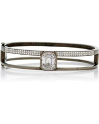AS29 - Small 15.5cm Black Gold And Illusion Diamond Bangle - Lyst