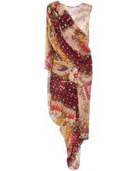 Etro - Paisley Sari Silk-blend Dress - Lyst