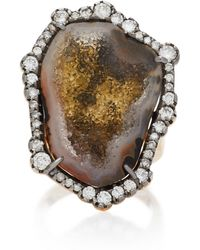 Kimberly Mcdonald - 18k Gold Geode, Diamond Ring - Lyst