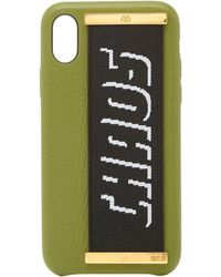 Chaos - Exclusive Canvas-trimmed Textured-leather Iphone X Case - Lyst