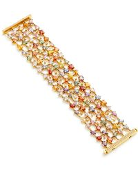 Nina Runsdorf - M'o Exclusive: One-of-a-kind Multi-sapphire Bracelet - Lyst
