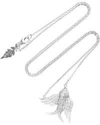 Colette   Bird 18k White Gold Diamond Necklace   Lyst