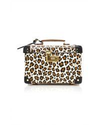 Charlotte Olympia - X Globe-trotter Leopard-print Leather Vanity Case - Lyst