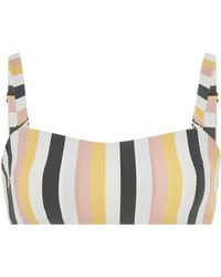 Asceno - Striped Bikini Top - Lyst