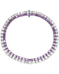 Lynn Ban - Riviere Amethyst And Aquamarine Necklace - Lyst