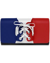 PERRIN Paris - Le Corset Color Block Leather Clutch - Lyst