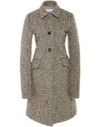 Marina Moscone - Irving Embellished Wool-blend Coat - Lyst