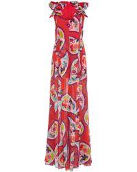 Delpozo - Printed Silk Jumpsuit - Lyst