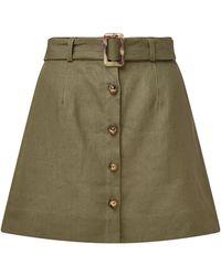 Lisa Marie Fernandez - Belted Linen Mini Skirt - Lyst