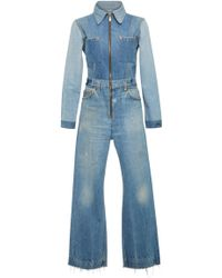 RE/DONE - Denim Jumpsuit - Lyst