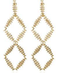 Rosantica - Voluttà Double Gold-tone Brass Earrings - Lyst