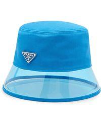 e060d0b5920679 Prada - Pvc And Shell Bucket Hat - Lyst