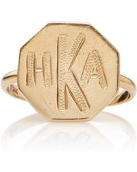 Emily & Ashley - Monogrammable Signet Ring - Lyst