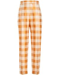 Brock Collection - Omar Plaid Straight Leg Pant - Lyst