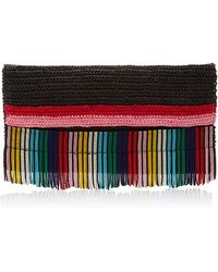 Sensi Studio - Multicolored Frayed Straw Bag - Lyst