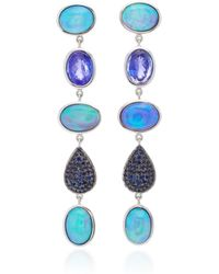 Katherine Jetter - One-of-a-kind Opal And Sapphire Earrings - Lyst