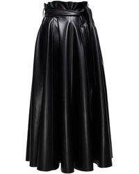 ANOUKI - Faux Leather Maxi Skirt - Lyst