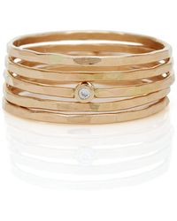 Zoe Chicco - Set Of 5 Hamered Rings - Lyst
