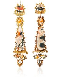 Simon Teakle - Antique Convertible Agate Earrings - Lyst