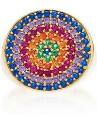 Joanna Laura Constantine - Gold-plated, Amethyst And Ruby Pinky Ring - Lyst