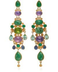 Mallary Marks - Chandelier 18k Gold And Multi-stone Earrings - Lyst