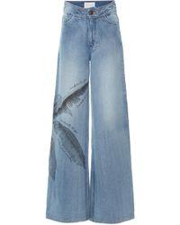 Johanna Ortiz - Pale Blue Spirit High-rise Wide-leg Jeans - Lyst