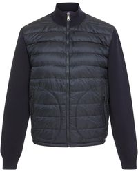 Ralph Lauren - Panelled Quilted-shell And Stretch-wool Jacket - Lyst