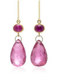 Mallary Marks - Apple&eve 18k Gold Ruby Earrings - Lyst