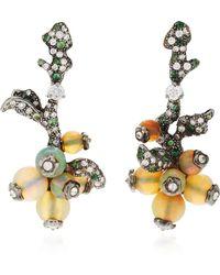 Arunashi - One-of-a-kind Opal And Tsavorite Earrings - Lyst