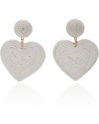Rebecca de Ravenel - Cora Cord And Gold-plated Clip Earrings - Lyst