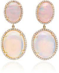 Nina Runsdorf - M'o Exclusive: One-of-a-kind Double Opal Drop Earrings - Lyst