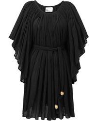 Lisa Marie Fernandez - Belted Cotton-voile Mini Dress - Lyst