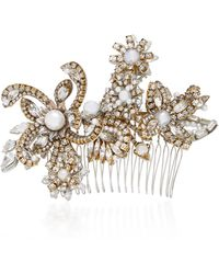 Erickson Beamon - My One And Only 24k Gold-plated Crystal And Pearl Hair Comb - Lyst
