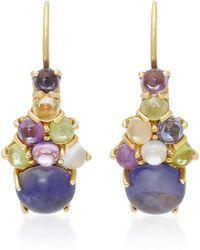 Daria de Koning - Dagny 18k Gold Multi-stone Drop Cluster Earrings - Lyst