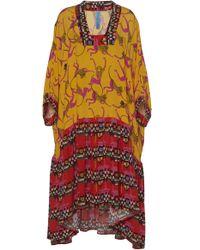 Rianna + Nina - Maura Silk Dual Print Dress - Lyst