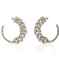 Oscar de la Renta - Silver-tone Crystal Earrings - Lyst