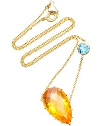 Renee Lewis - 18k Gold Zircon And Fire Opal Necklace - Lyst