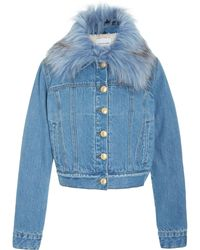 ei8ht dreams - Shearling Lined Cropped Jacket - Lyst