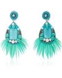 Ranjana Khan   Embellished Turquoise Earrings   Lyst