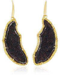 Kimberly Mcdonald - 18k Gold Geode And Diamond Earrings - Lyst