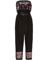 Carolina K - Billie Sequin Linen-blend Jumpsuit - Lyst