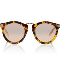 84365b56f8e Karen Walker - Harvest Rose Gold-tone Metal And Tortoiseshell Acetate  Sunglasses - Lyst