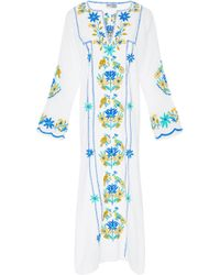 Juliet Dunn - Embroidered Cotton Kaftan - Lyst