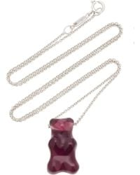 Lauren X Khoo - Gummy Bear 18k White Gold Quartz Necklace - Lyst