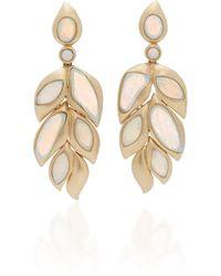 Goshwara - 18k Gold And Opal Earrings - Lyst