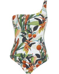 VERANDAH - Gayo One-shoulder Printed One-piece Swimsuit - Lyst