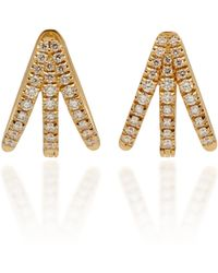 Melissa Kaye - Cris 18k Gold Diamond Earrings - Lyst