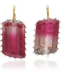 Renee Lewis - Antique Watermelon Pink Tourmaline Earrings - Lyst